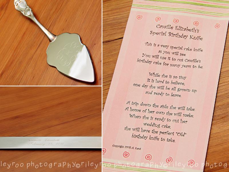 Cake Knife Baby Gift Poem Gift Ideas