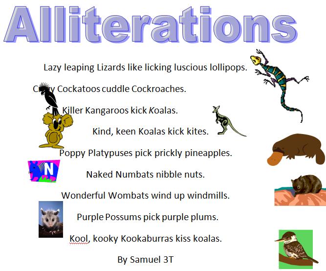 Creature Alliteration Poems