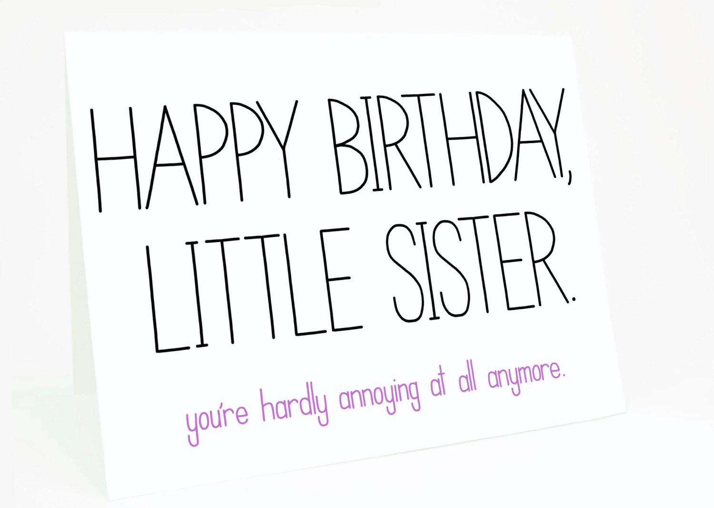 Happy Birthday Little Sister Poems