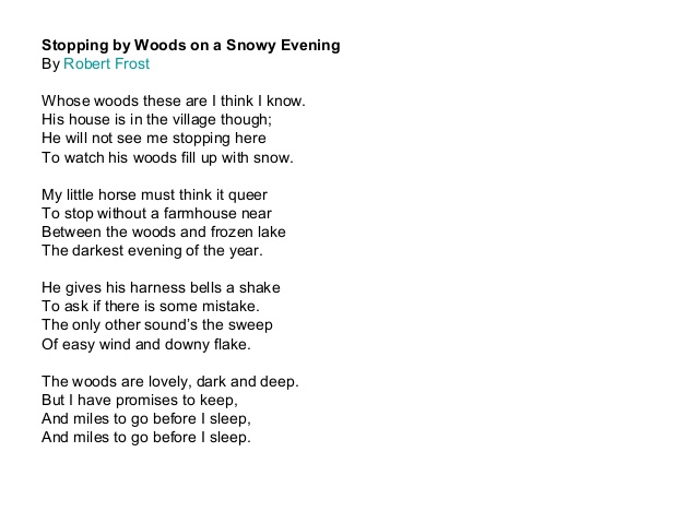 theme of the poem stopping by Stopping by woods on a snowy evening is a simple poem underneath the surface it has a slightly deeper meaning looking at the way the poem the main underlying theme the poem explores is the wonder and sereneness of nature, while at the same time subtly pulling the reader away and towards.