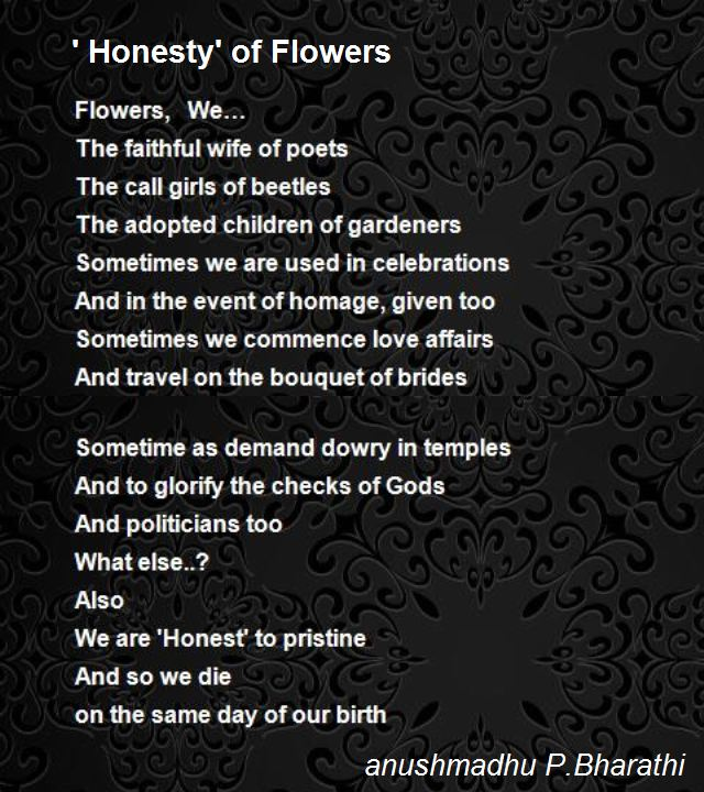 Be Honest Poem by R.J. Smith |Honest Poetry