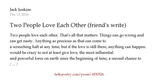 Poems about loving two people at once