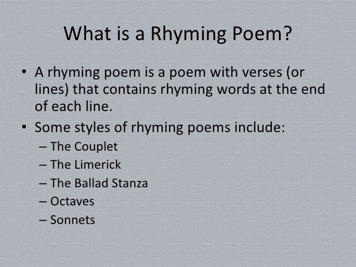 help writing a poem that rhymes How to rhyme – a video poetry writing lesson  poetry4kids also has a rhyming dictionary and a list of rhyming words you can use to help you write poems.