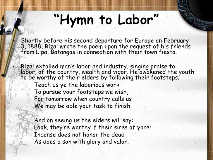 whom rizal dedicated the poem felicitation Father poems include poems for new dads, usually sent as fathers day card messages this first father's day poem tries to capture the wonder of it all in a greeting card rhyme.