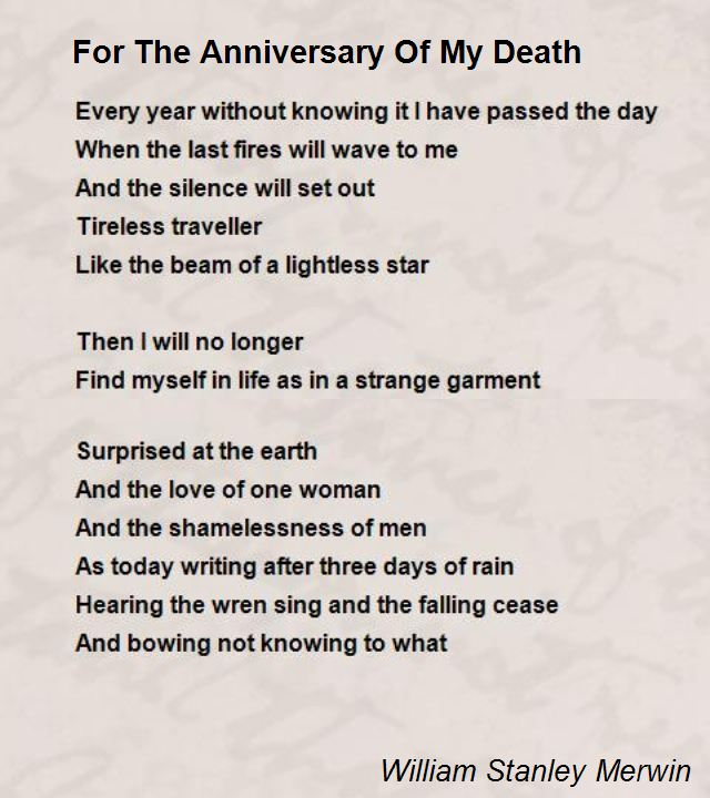 Death anniversary Poems