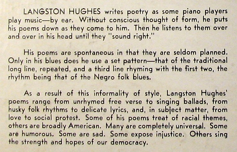 langston hughes research paper outline The harlem renaissance was a great and powerful era in black history blues and jazz flourished throughout the streets of new york, and young black artist began to arise an important part of this era had to be the inspirational writings of mr langston hughes.
