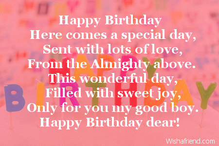 Astounding Happy Birthday Son Poems Personalised Birthday Cards Beptaeletsinfo