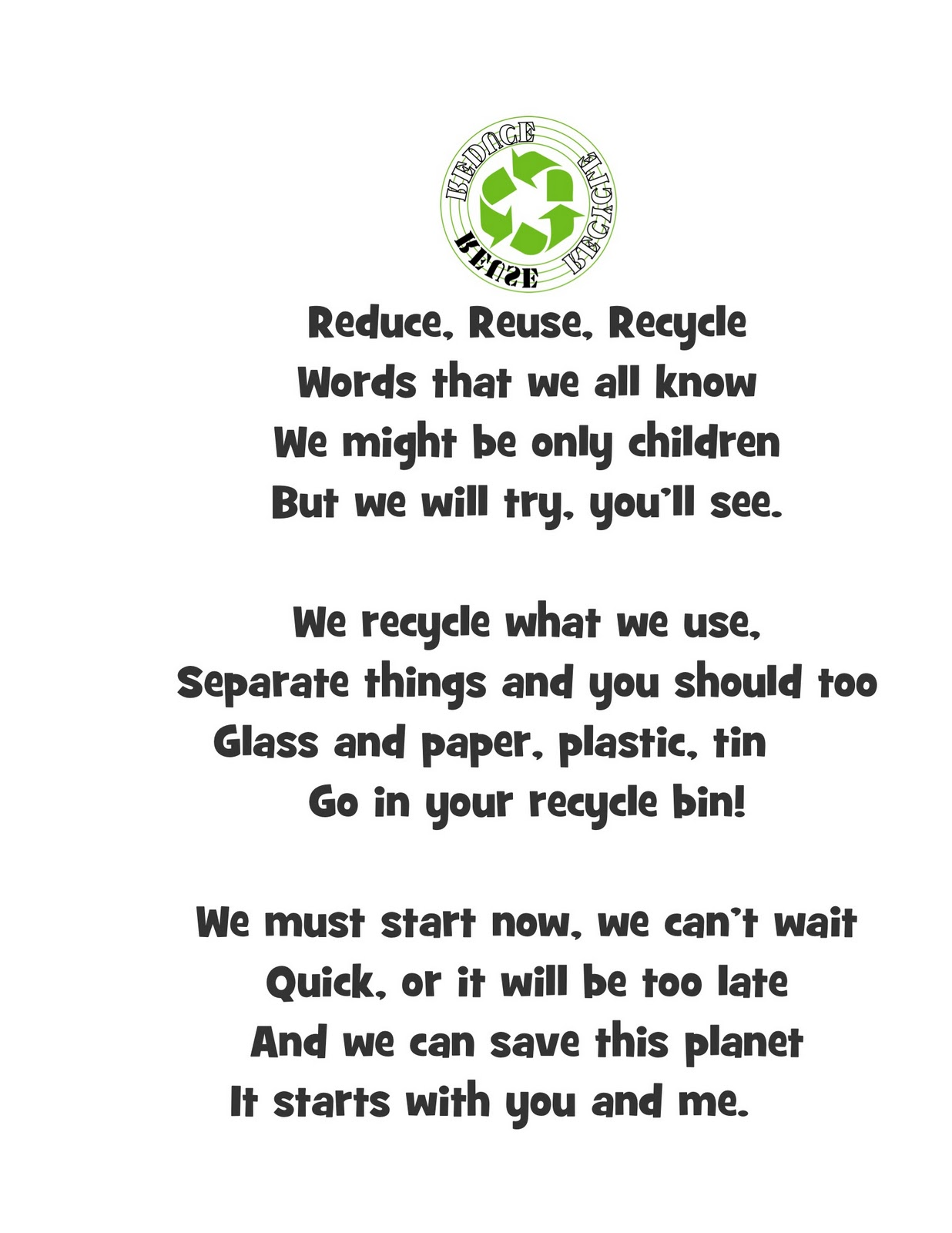 Recycling Poems