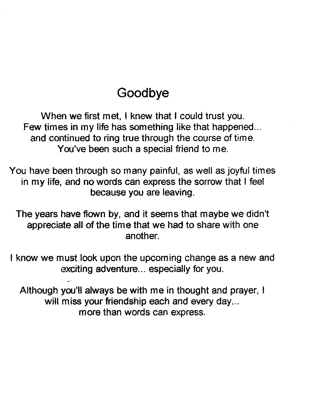 poems to say goodbye to a friend 💣 quotes about friends leaving