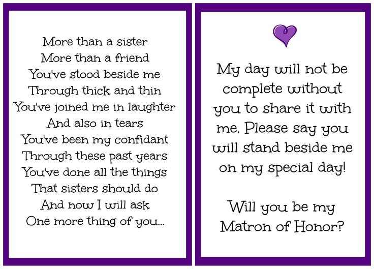 asking sister to be maid of honor poem wedding tips and inspiration