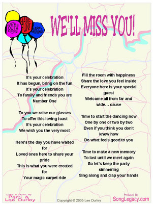 Funny farewell Poems