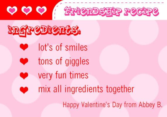 Valentines Friendship Poems