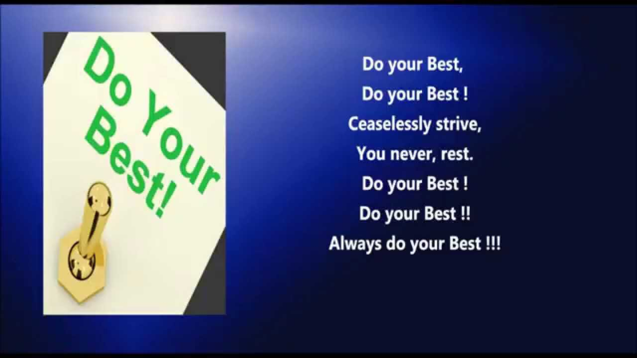 do your best a on giving your best