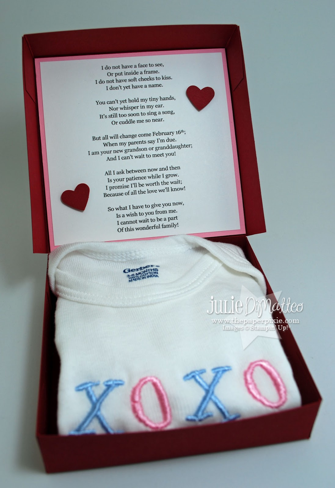 Baby gender reveal gifts for grandpas gift ideas baby announcement poems m4hsunfo