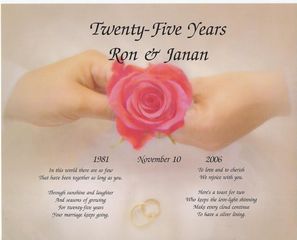 Anniversary card Poems