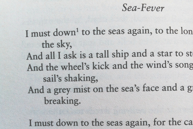 an analysis of the sea fever poem by john masefield John masefield's poem sea fever is a work of art that brings beauty to the english language through its use of rhythm, imagery and many complex figures of speech.