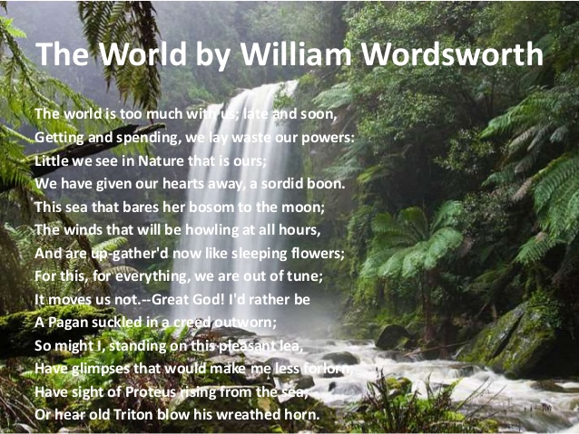 the correlation of william wordsworths poetry and his experiences His experiences in and around hawkshead, where william and richard wordsworth began attending school in 1779, would also provide the poet with a store of images and sensory experience that he would continue to draw on throughout his poetic career, but especially during the great decade of 1798 to 1808.