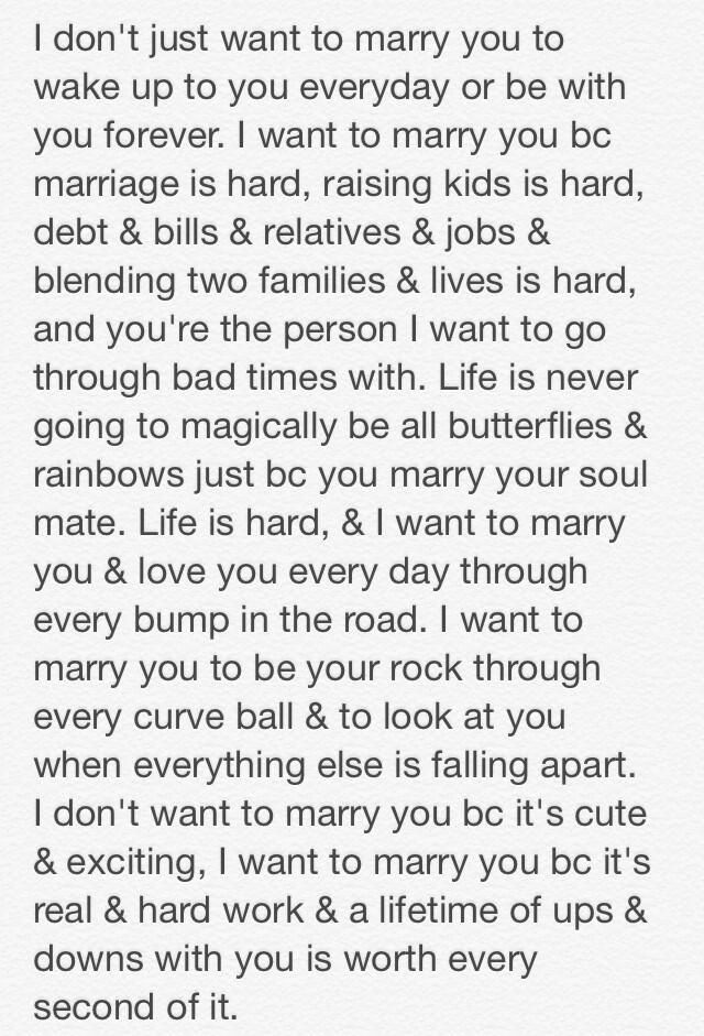 I want to marry you Poems