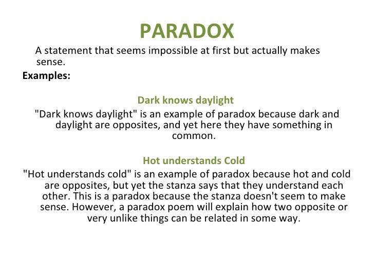 Example Of An Paradox Images Example Cover Letter For Resume