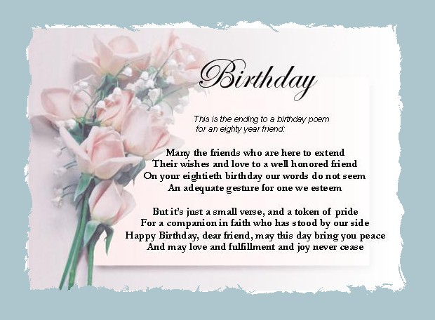 Birthday Cards Poems