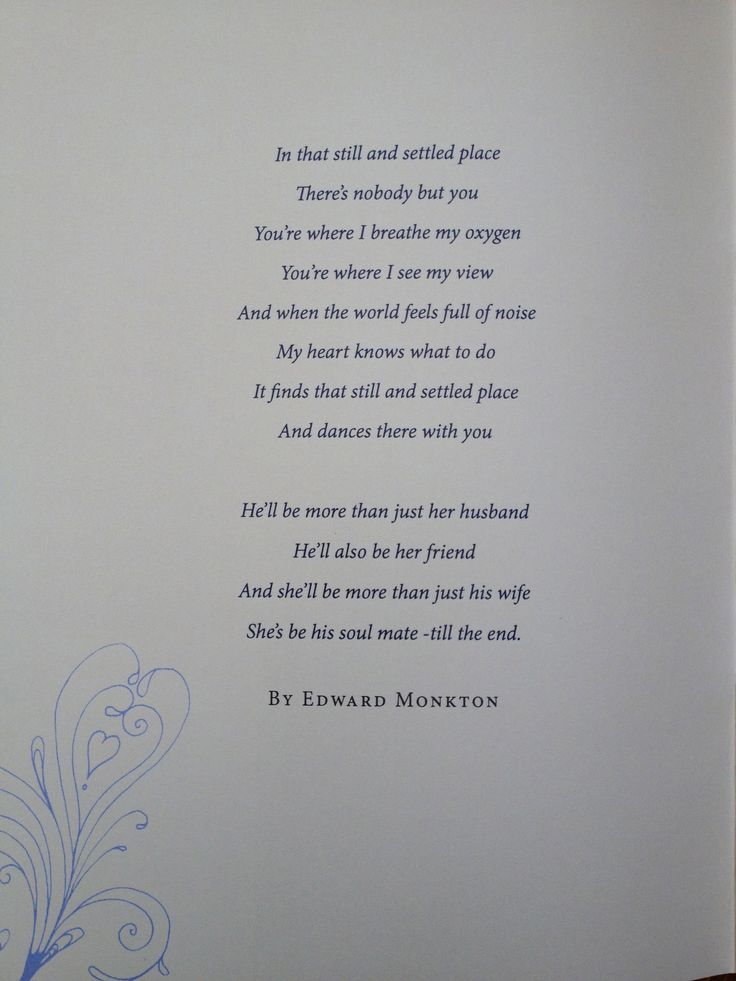 Short Wedding Poem For A Child To Read Ideas 2018