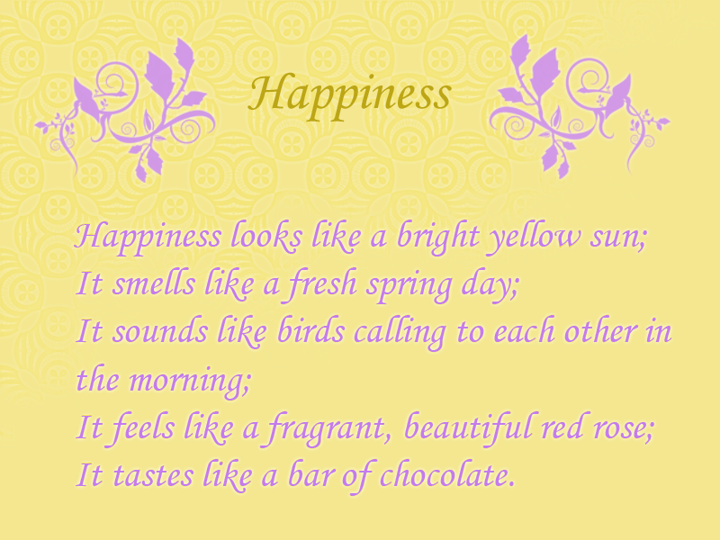 Happiness Poems