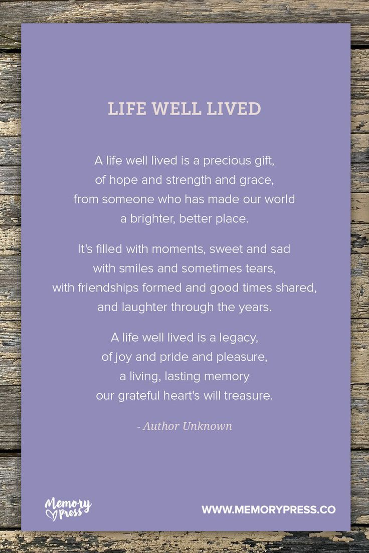 living eulogy examples