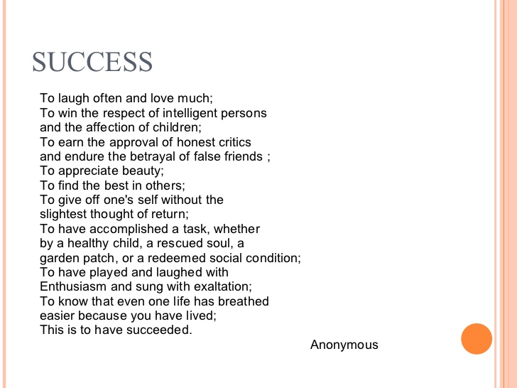 Successful Poems