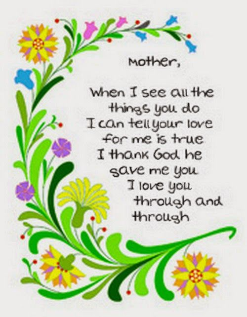 Childrens Mothers Day Poems
