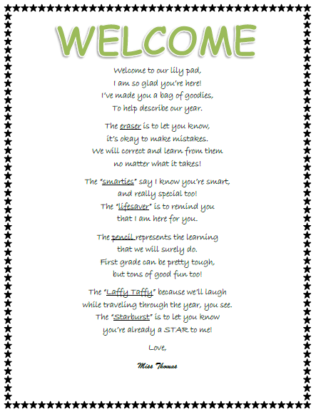 Short Welcome Poems