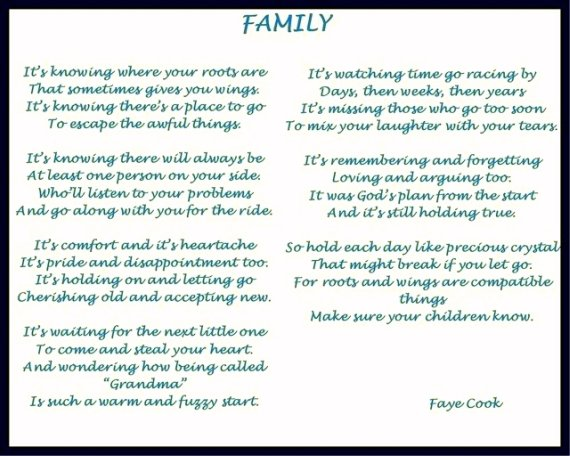 Free family Poems