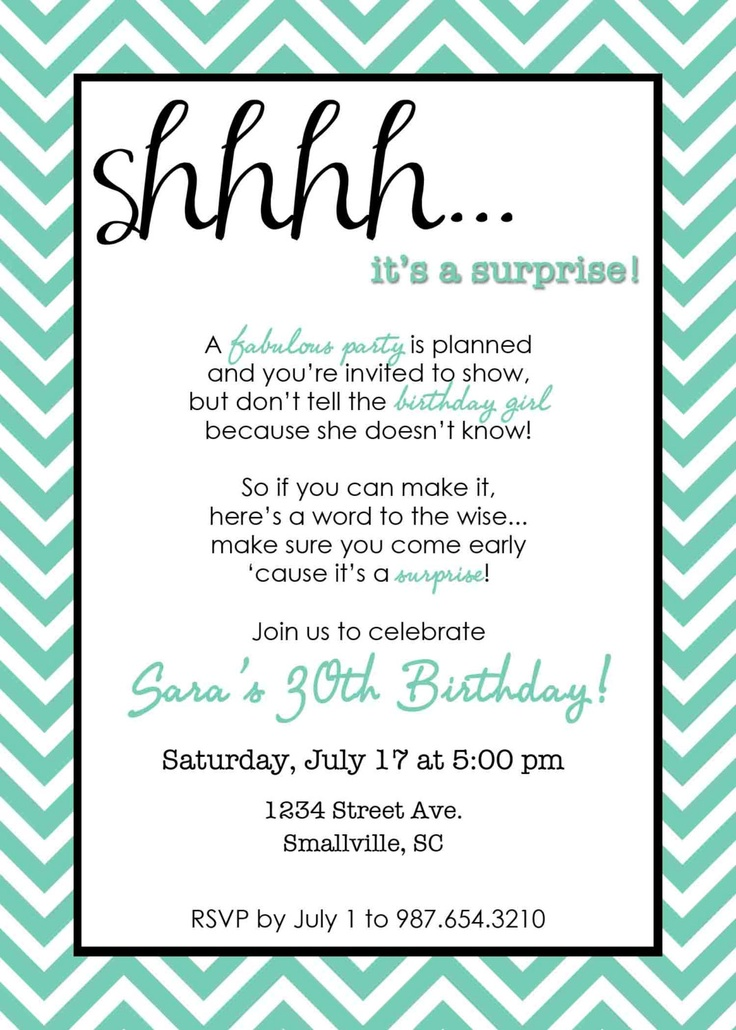 Birthday Party Poems For Invitations