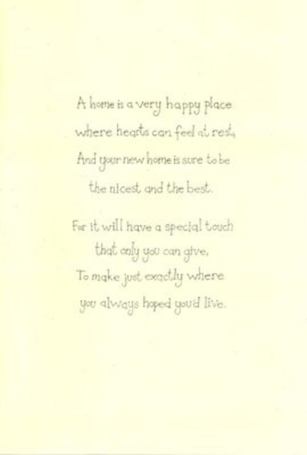 New House Poems