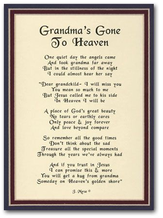 Grandma Death Poems