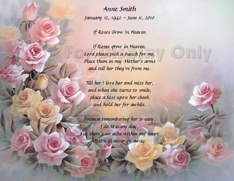 Mother Remembrance Poems