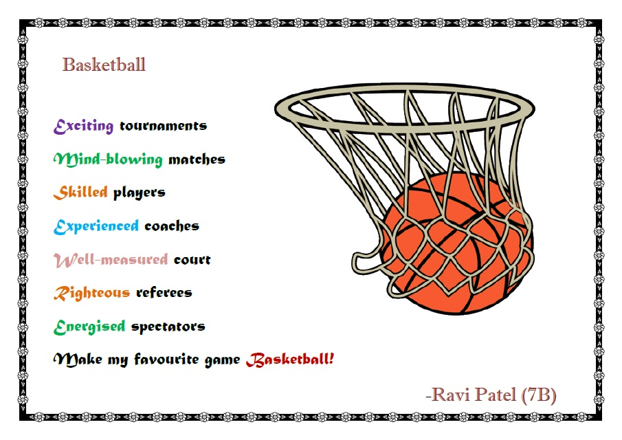 Finest Basketball acrostic Poems QR77