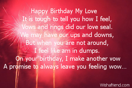 Happy Birthday Love Poems