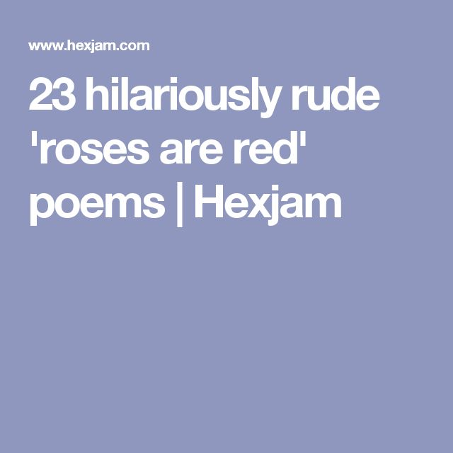 Dirty Roses Are Red Poems