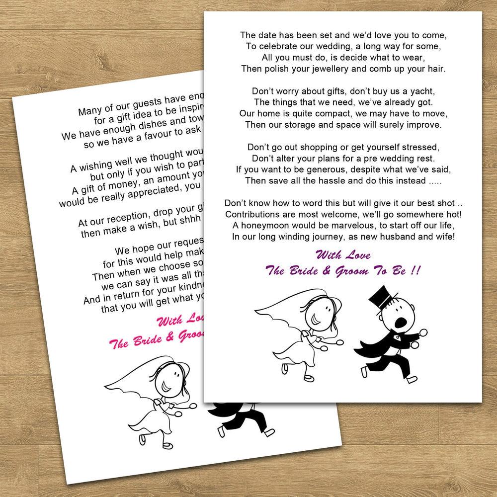 Funny wedding Poems