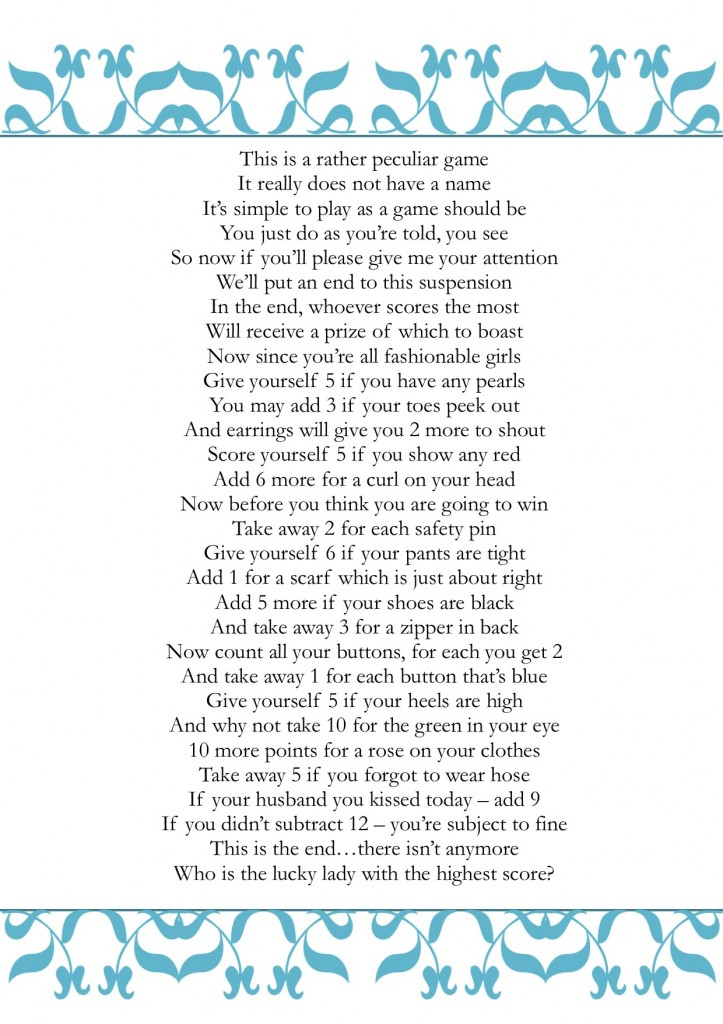 shower poems