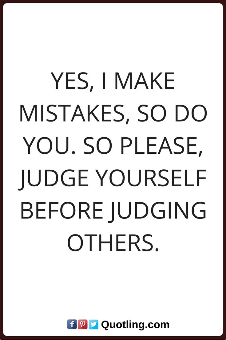 Judging Others Poems
