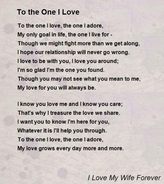 One Love Poems