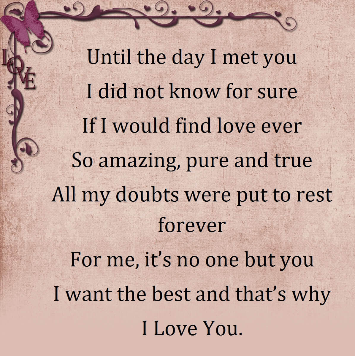 Special love Poems