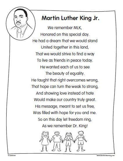 Martin Luther King Poems