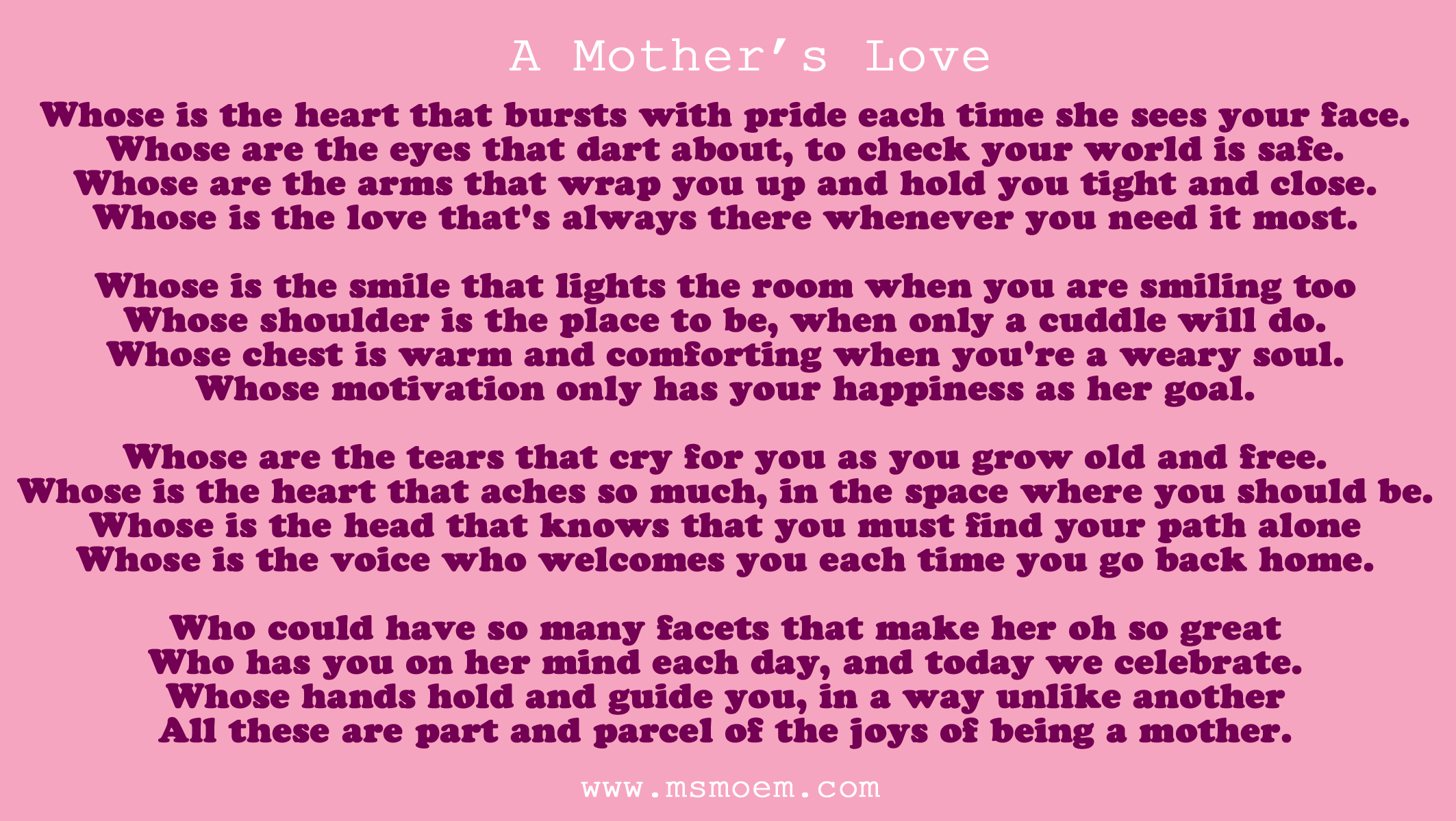 Mother love Poems