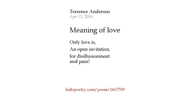 Meaning Love Poems