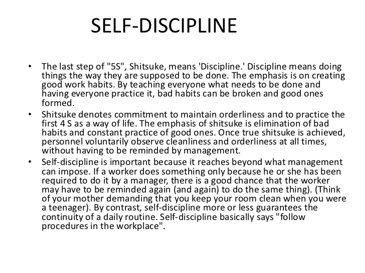 essay on why discipline is important Often the word discipline brings to mind the punishment of a child however discipline doesn't stop when childhood ends it continues on all through adulthood as well by examining this trait more closely, one can fully understand its importance.
