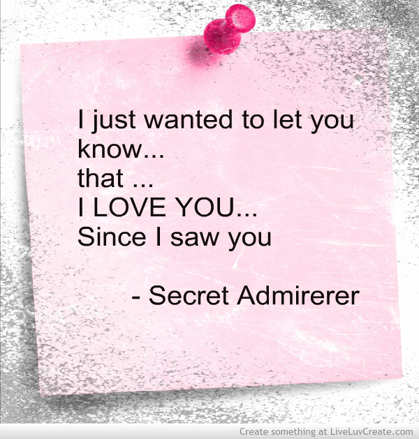 Secret Admirer Poems