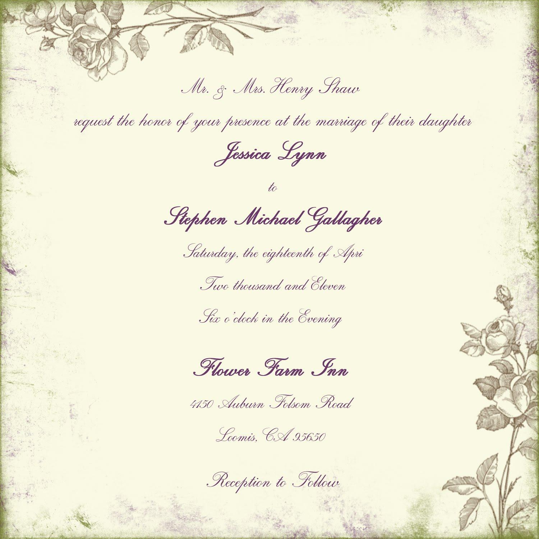 Wedding invitation Poems