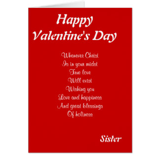 Sister valentine poems sister valentine cards zazzle m4hsunfo Choice Image